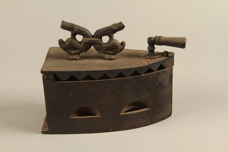 2016.121.5 right side Iron used by a Hungarian Jewish family