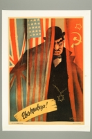 2016.184.337 front Poster of a wealthy Jewish plotting against Nazi Germany  Click to enlarge
