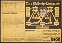 2016.184.348 front Nazi propaganda poster outlining the worldwide Jewish conspiracy  Click to enlarge