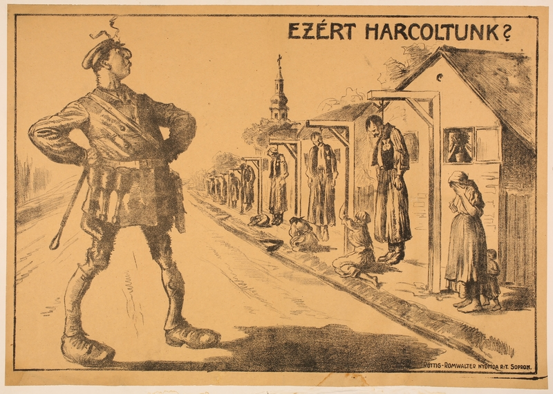 2016.184.351 front Poster of a Jewish Communist soldier gloating at hanged war heroes
