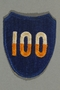 US Army 100th Infantry Division patch worn by a Jewish emigre soldier