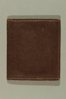 2016.187.4 back Brown leather wallet printed US Army used by a Jewish emigre soldier  Click to enlarge
