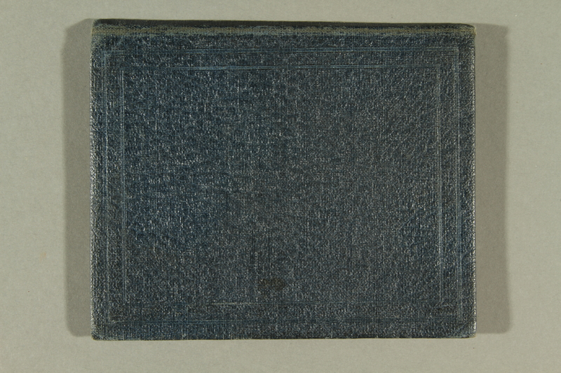 2016.187.6 front Cardboard cover used to hold identication by Jewish refugees
