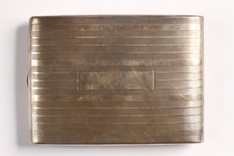 2003.149.85 front Felmore Art Deco cigarette case owned by German Jewish emigre and US soldier