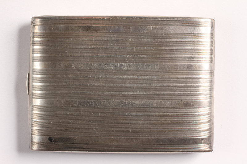 2003.149.85 back Felmore Art Deco cigarette case owned by German Jewish emigre and US soldier