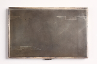 2003.149.86 front Engraved cigarette case given to a German Jewish emigre  Click to enlarge