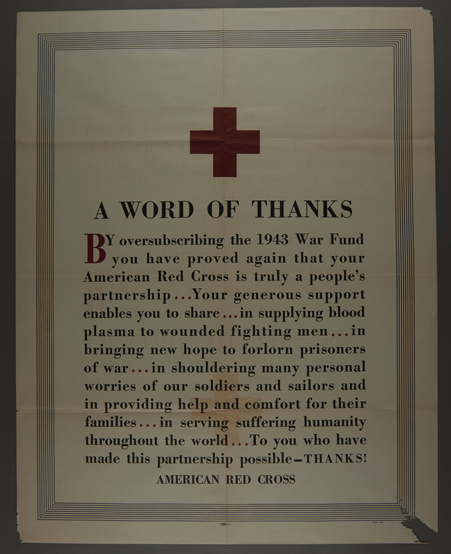 2015.564.4 front Poster in support of the American Red Cross