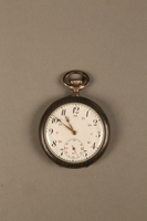 2016.137.5_a front Pocket watch with stand used by a Polish Jewish man while living in hiding  Click to enlarge