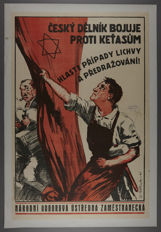 2016.184.356 front Poster on the Jewish exploitation of Czech Christian workers