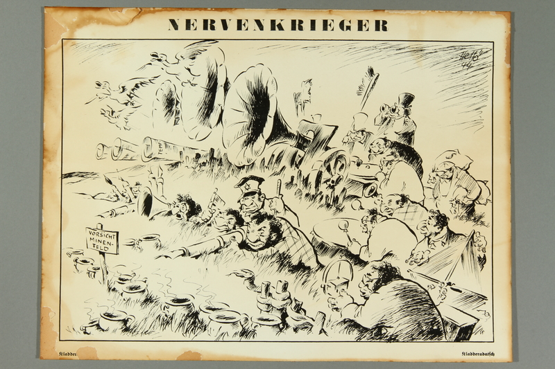 2016.184.376 front Satiric print of Jewish men orchestrating the war