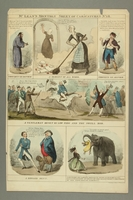 2016.184.379 front Color print with six panels with caricatures of current events  Click to enlarge