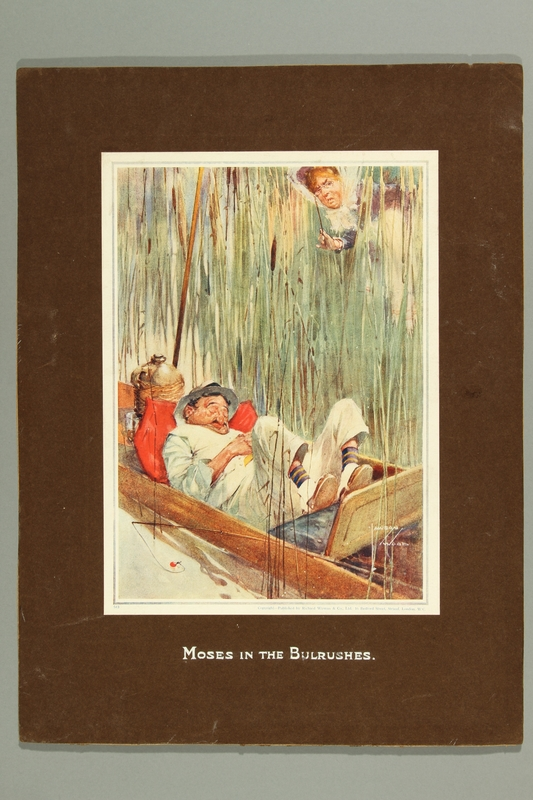 2016.184.381 front Print parody of Moses in the Bulrushes