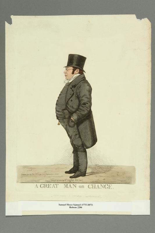 2016.184.386 front Engraved portrait of a Jewish merchant, Samuel Moses Samuel
