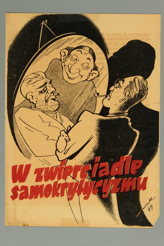 2016.184.392 front Magazine cartoon of Roosevelt as a gangster controlled by a Jew