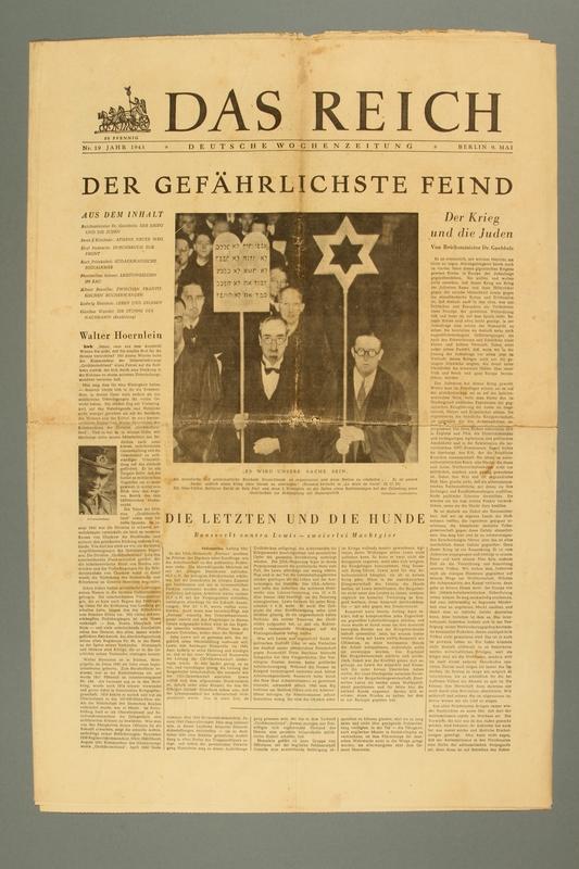 2016.184.407 front Das Reich: deutsche Wochenzeitung, No. 19, May 9, 1943