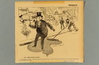 2016.184.411 front French newspaper cartoon of a Jewish man with an umbrella  Click to enlarge