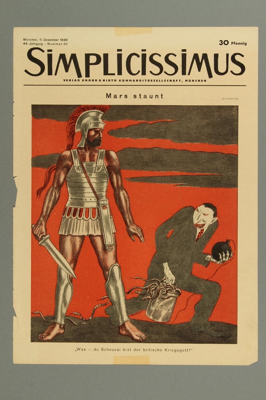 2016.184.417 front Simplicissimus, Vol. 44, Iss. 49, December 12, 1939