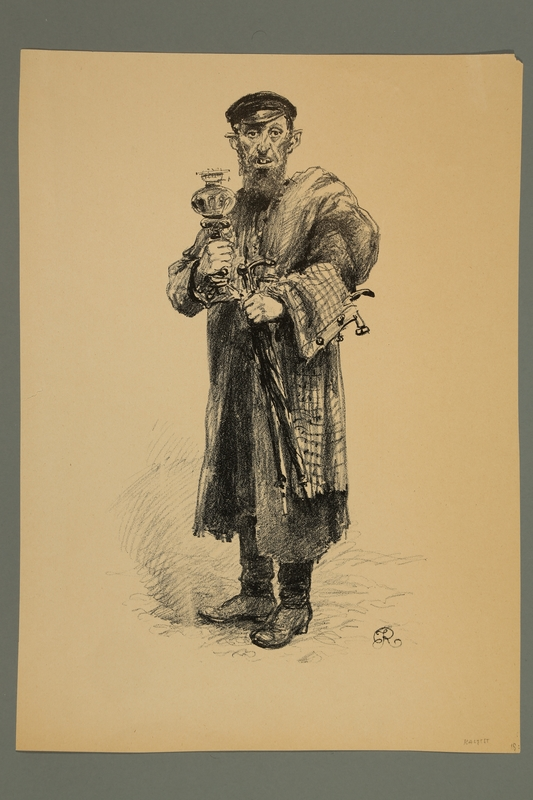 2016.184.418 front Engraving of a Jewish peddler