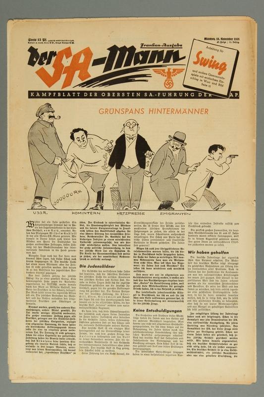 2016.184.419 front Der SA-Mann Kampfblatt der Obersten SA-Führung der NSDAP, Folge 47, Jahrg. 11, November 18, 1938