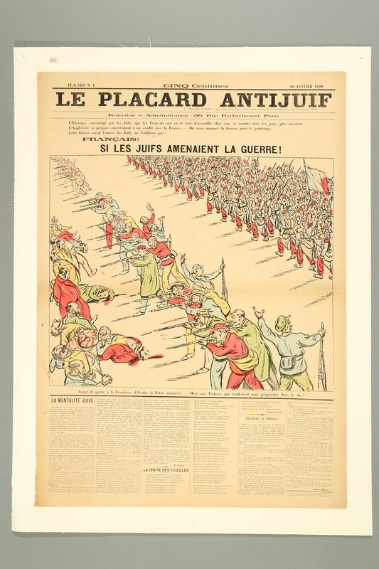 2016.184.422 front Le Placard Antijuif, Janury 20, 1899