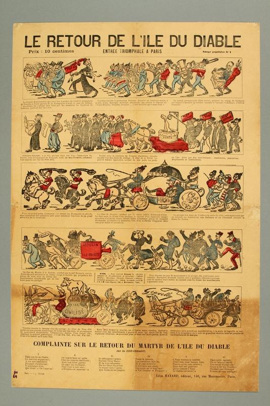 2016.184.424 front Illustrated newsheet satirizing Dreyfus's return from Devil's Island