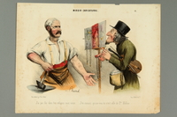 2016.184.426 front Satiric French print of a Jewish peddler selling rosaries  Click to enlarge