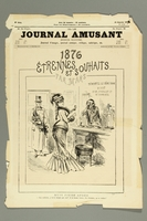 2016.184.432 front Cover of a humor journal of French woman and a Jewish pawn shop owner  Click to enlarge