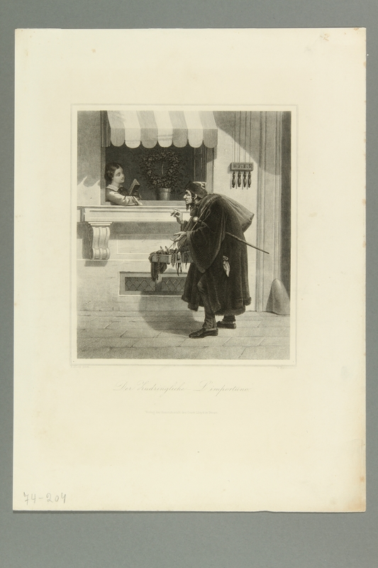 2016.184.441 front Caricature of a Jewish peddler