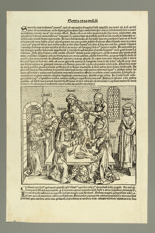2016.184.457 front Woodcut of the so-called martyrdom of Simon of Trent