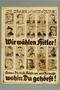 Nazi Party poster for the 1932 presidential election: Hitler v. Hindenburg