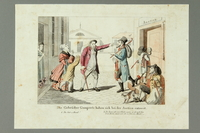 2016.184.469 front Color print of two Jewish brothers and peddlers arguing in the street  Click to enlarge