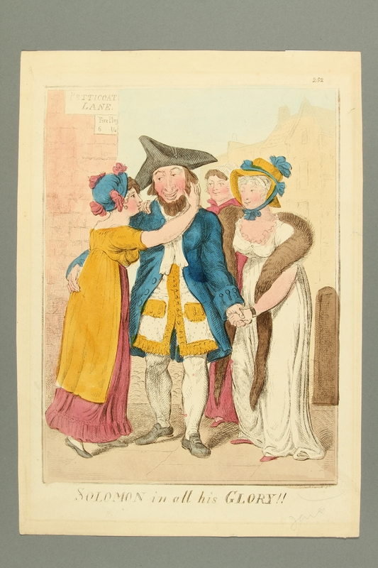 2016.184.475 front Satiric image of a Jewish soldier with female admirers