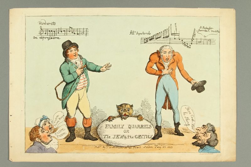 2016.184.481 front Rowlandson print of a singing competition between a Gentile and a Jew