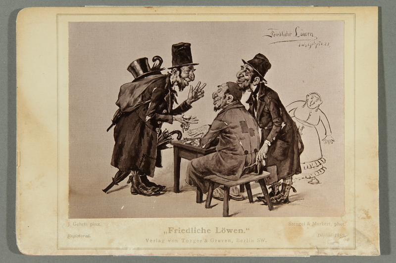 2016.184.488 a front Six postcards ridiculing Jews as foolish, unlucky figures