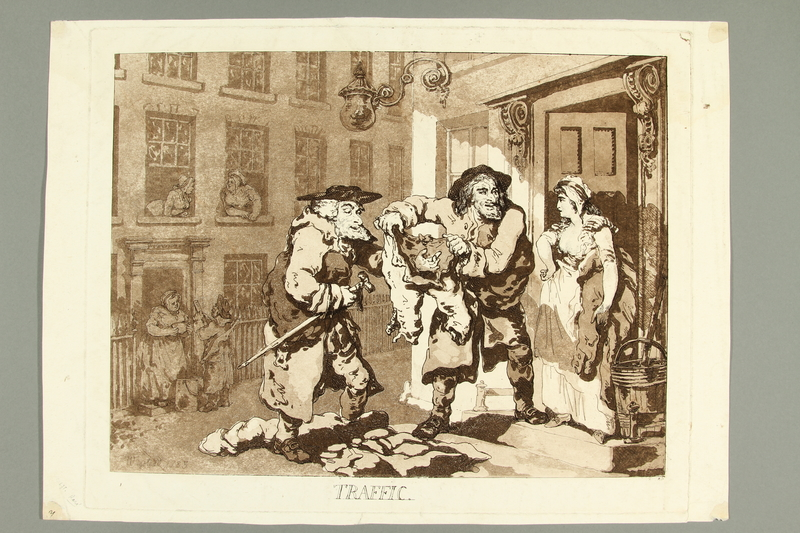 2016.184.489  front Aquatint of two Jewish rag dealers buying old clothes