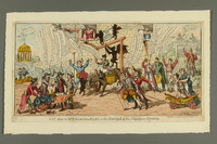 2016.184.492 front Cartoon of people jeering at Napoleon as jester being taken to Elba  Click to enlarge
