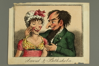 2016.184.493 front Antisemitic cartoon lampooning a couple with exaggerated stereotypical Jewish features  Click to enlarge