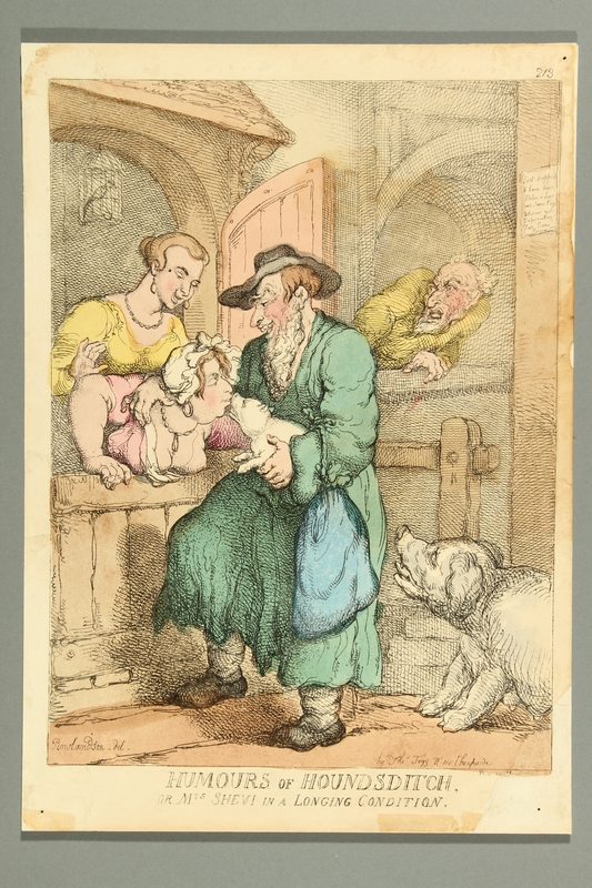 2016.184.495 front Satirical print of a Jewish woman kissing a pig
