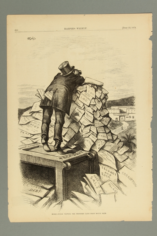 2016.184.501 front Cartoon of a Jewish moneylender looking at the SC State prison
