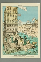2016.184.502 front Cartoon of Jews enjoying a seaside vacation despite Jews not wanted hotels  Click to enlarge