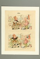 2016.184.506 front Cartoon of a Jewish woman using her exaggeratedly long nose to hold her clothesline  Click to enlarge