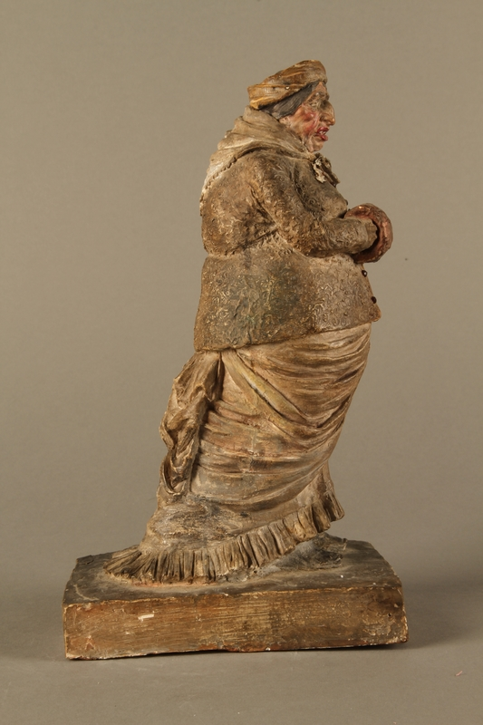 2016.184.534.2 right side Antisemitic pottery figure of a Jewish women with exaggerated features