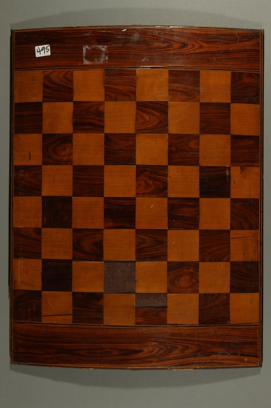 2016.184.544 back 2 sided gameboard for chess and the antisemitic Game of the Jew