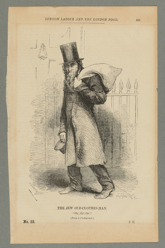 2016.184.551 front British illustration of a Jewish rag peddler