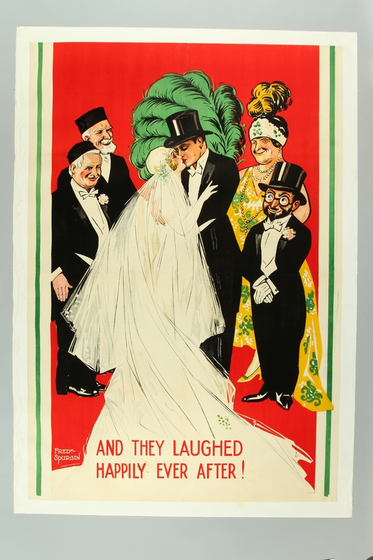 2016.184.560 front Theatrical poster of the wedding from the play, Abie's Irish Rose