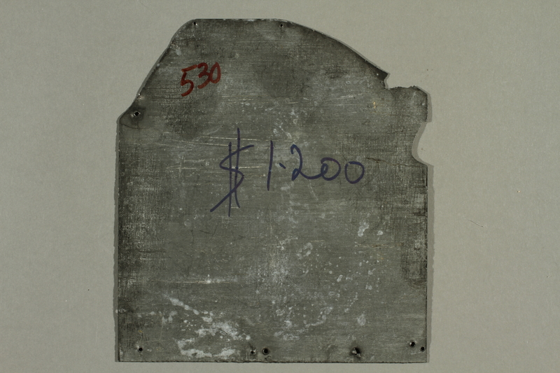 Printing plate with a giant Jewish puppeteer manipulating