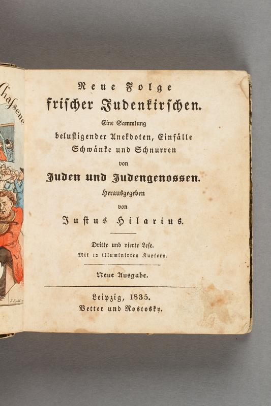 2016.184.582 page 1 Neue Folge frischer Judenkirschen: eine Sammlung belustigender Anekdoten, Einfälle, Schwänke und Schnurren von Juden und Judengenossen