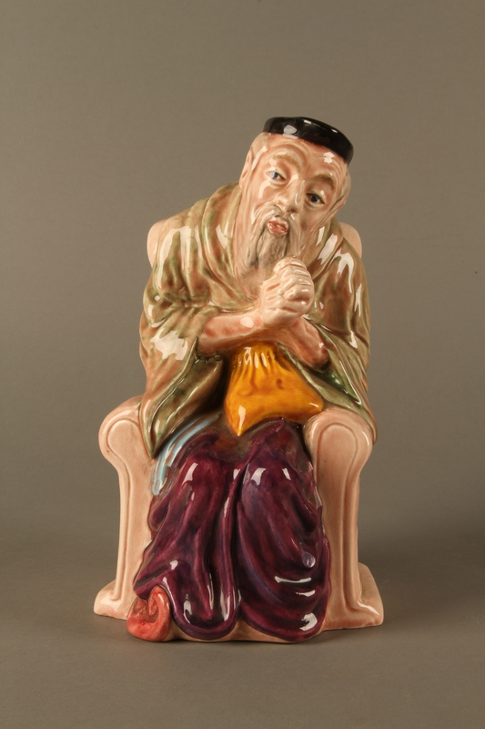 2016.184.605 front Staffordshire character pitcher of Shylock
