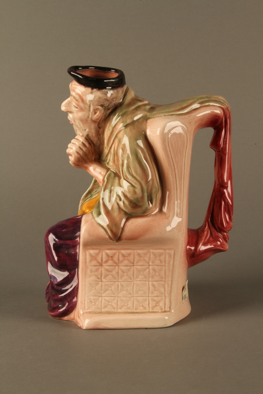 2016.184.605 left side Staffordshire character pitcher of Shylock