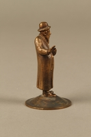 2016.184.615 right side Bronze cast figurine of a Jewish matchmaker with his umbrella  Click to enlarge